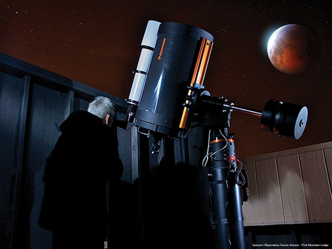 Spencer's Observatory located in Tucson, AZ. Celestron Telescope available for astronomy viewing